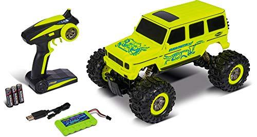 Carson 1:10 Sea Monster 2.4G 100% RTR, Ferngesteuertes Auto, RC Fahrzeug, inkl. Batterien und Fernsteuerung, Fahrzeit 20 min, 500404173, Gelb