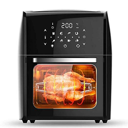 ZLJ Friggitrice ad Aria elettrica 1800W 220V 12 5L Forno Digitale Touch Screen a LED con Timer per Il Controllo della Temperatura Alimentatore Antiaderente per Uso Domestico pentola per la Sal