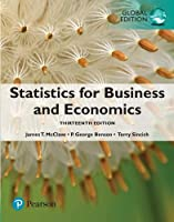 Statistics for Business and Economics, Global Edition, 5th Edition Front Cover