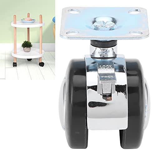 KAKAKE Rueda giratoria, Buena flexibilidad con función de Freno para gabinetes para mesas de café