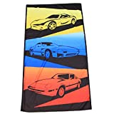 RX-7 Generations - Beach Towel - Yellow Blue Red