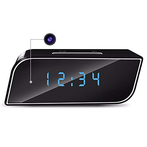 Ordioy WiFi Mini Despertador Ocultado Reloj De La Cámara, La Cámara HD...