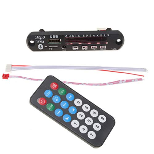 Morninganswer Inalámbrico decodificador Junta Radio 3.5mm Receptor de audio Receptor Inalámbrico Kit Coche Reproductor Decodificador Tarjeta Color Pantalla