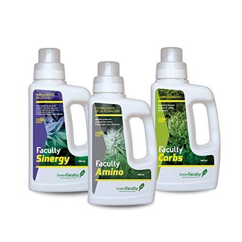 GreenFaculty - Advanced - Kit Fertilizantes Abonos para Cultivo. Pack Ahorro Potenciador...
