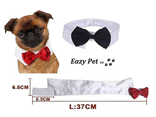 Dog Bow Pajarita y Camisa para Perro, Color Blanco y Negro, con Lazo