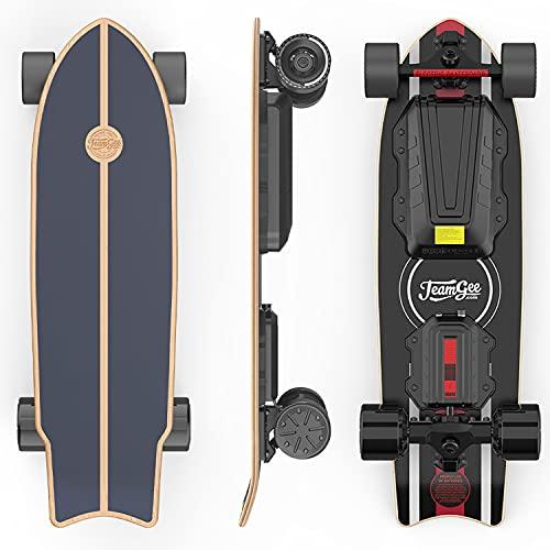 Teamgee H20mini Electric Skateboard with Remote Control Hub Motors 900W...
