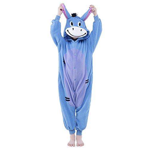 NEWCOSPLAY Halloween Unisex Child Donkey One-Piece Pajamas Costume (105, Donkey)