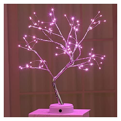 WUBZSHI Luce Notturna USB LED. Luce Notturna Mini Albero Filo Rame Filo Ghirlanda Luce Camera da Letto Decorazione fiaba fiaba Illuminazione Illuminazione Vacanze (Color : 108leds Pink)
