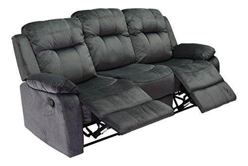 Sillón Reclinable Sofa 3 Plazas Sala Cómodo Alyssia