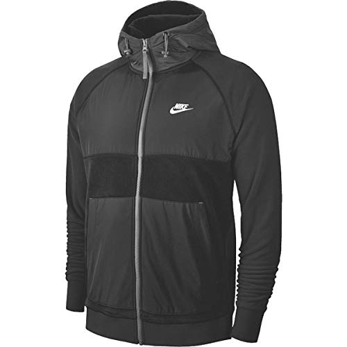 Nike Herren NSW Ce Full Zip Winter Hoodie T-Shirt, Schwarz (Black/Off Noir/White), (Herstellergröße: X-Large)