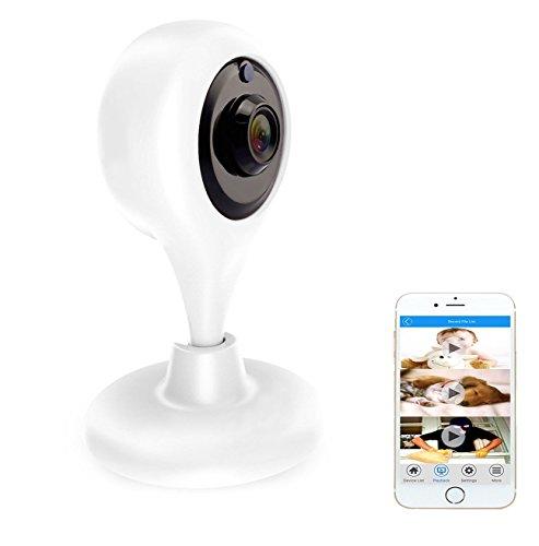 cámara de vigilancia, cámaras de seguridad Amotus Wireless N, los movimientos y los sonidos del detector, visión nocturna Alcance, notificaciones Push para PC / iPhone / iPad / Smartphone