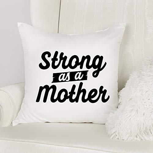 Blafitance Funda de almohada para el día de la madre, 60 x 60,9 cm, fundas de almohada para el día de la madre, fundas de almohada para mamá, fundas de almohada cuadradas de lona