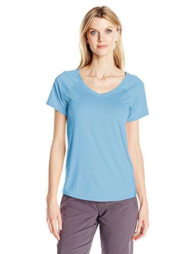 Columbia Women's Saturday Trail II Knit Short Sleeve Shirt, Blue Sky Heather, Large