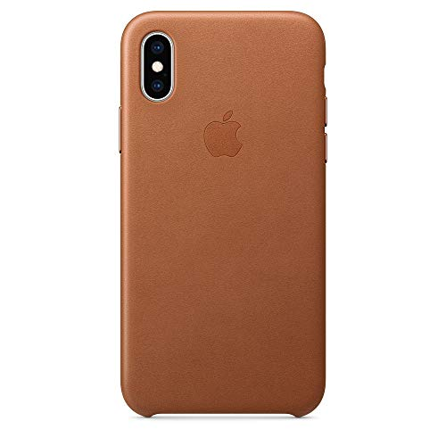 Apple iPhone XS レザーケース -  サドルブラウン(アップル 純正品/メーカー型番:MRWP2FE/A)