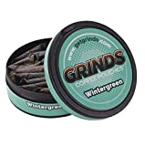 Grinds Coffee Pouches | 3 Cans of Wintergreen | Tobacco Free, Nicotine Free Healthy Alternative | 18 Pouches Per Can | 1 Pouch eq. 1/4 Cup of Coffee (Wintergreen)