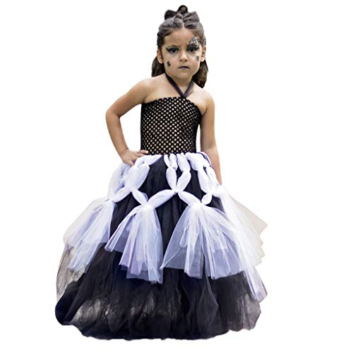 Battnot Halloween Kostüm für Mädchen Kleinkind Kinder Baby-Karikatur Spinne Cosplay Tutu Kleid Party Kleidung Prinzessin Dress 12-24 Monate 2 3 4 5 7 8 9 10 11 12 Jahre Halloween Festlich Kleidung