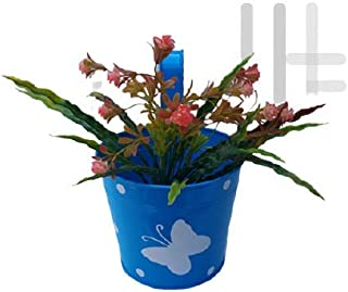 Royal Baskets 1 Butterfly Round Railing Planter / Plant pots (Blue, Pack of 1)…