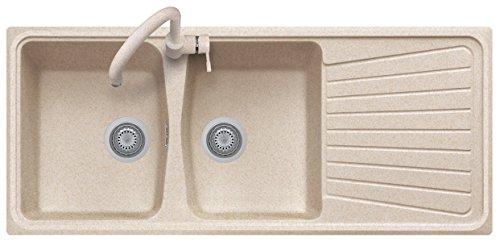 Lavello PLADOS SPAZIO 116.20 a due vasche più scolapiatti