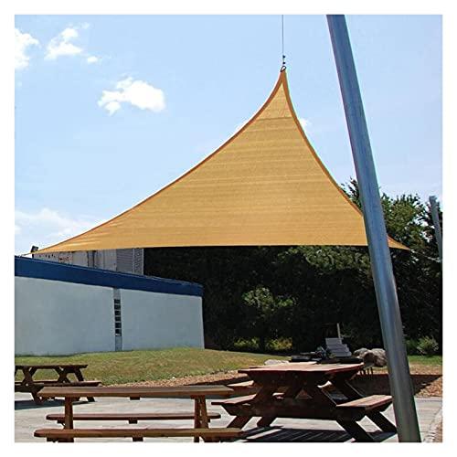 WULIL Vela De Sombra Impermeable, Toldo Triangular con Protección Solar 98% De Bloqueo UV para Jardín, Patio, Cochera, Piscina Y Balcón (Color : Sand, Size : 3x4x5m)