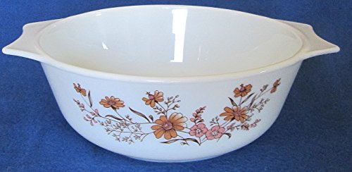 Pyrex 1-1/2 Quart Mixing Bowl – Peach Floral – Made in England