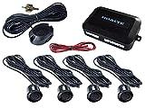 HOALTE Kit de ayuda de aparcamiento con 4 sensores ultrasónicos fi de 22 mm, alcance de hasta 2 metros, detección de obstáculos vertical y horizontal, alerta acústica para todos los tipos de coche