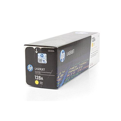 Original Toner HP CE322A CE-322A Yellow Color LaserJet Pro CP1525n CP1525nw CM1415fn CM1415fnw - Nr.128 (ca. 1.300 Seiten) Gelb Tonerkartusche