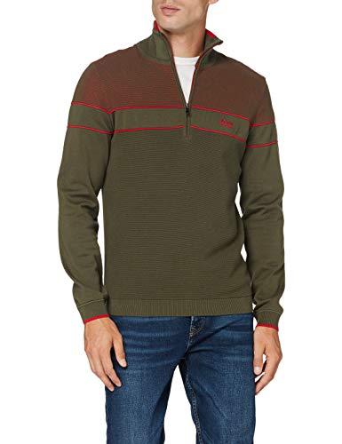 BOSS Mens Zeeko Sweater, Dark Green (305), M