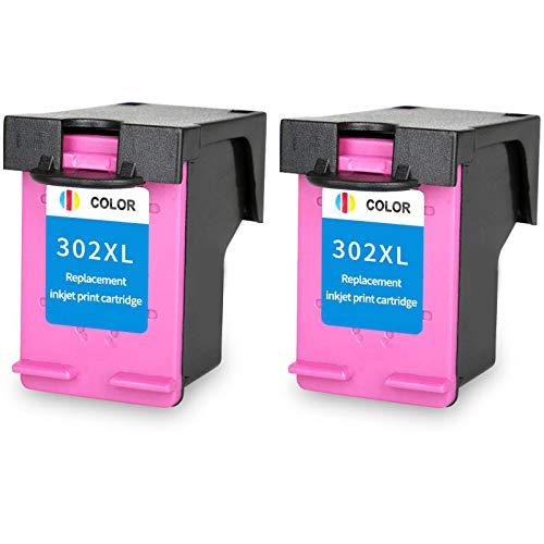 Cartucho de tinta 302XL, repuesto para impresora HP Deskjet 1110 1112 2130 2131 2132 2133 3634 3632 4513 4516 4517 4520 de alto rendimiento tinta negra tricolor 2 tricolor