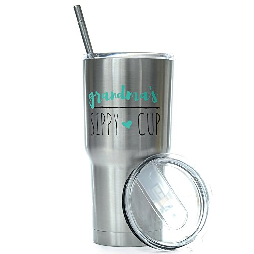 Grandma's Sippy Cup 30 oz. Stainless Steel Tumbler Value Pack - Proudly Screen Printed in the USA - Double Wall Vaccum Insulated