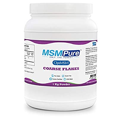 MSMPure Coarse Powder Flakes, Organic Sulfur Crystals, 99.9% Pure Distilled MSM, 1 kg