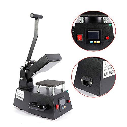 Electrical Heat Press Machine Hot Labeling Maker Digital Mini Heat Transfer Machine Sticker DIY Print Pattern 4.7''x4.7'' USA Stock