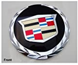 GM FACTORY CADILLAC ESCALADE 07 THRU 14 FRONT WREATH AND CREST EMBLEM WITH PLATE