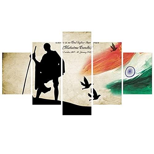 5 Piezas de Arte Marco Cuadros Decoracion Salon Cuadro del Padrino de la India Moderno HD sobre lienzos impresión Cuadro Usado para Sala Oficina Hogar Decoracion de Pared