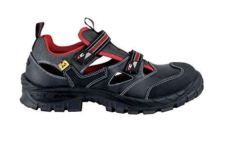 Cofra Sicherheitsschuhe, Guttorm, Sommer-Sandalen, schwarz, S1P Asgard 13050000, BGR191, 45, Schwarz
