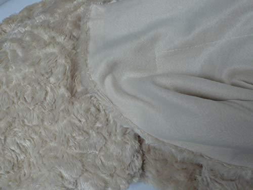 Manta DE Sofa Plaid Vison + Polar Suave Y Calido 160 X 220 CM Beige (220 X 240 CM)