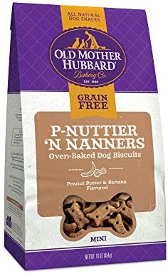 Old Mother Hubbard P Nuttier N Nanners Grain Free Oven Baked Mini Dog Treats Banana Peanut Butter product image