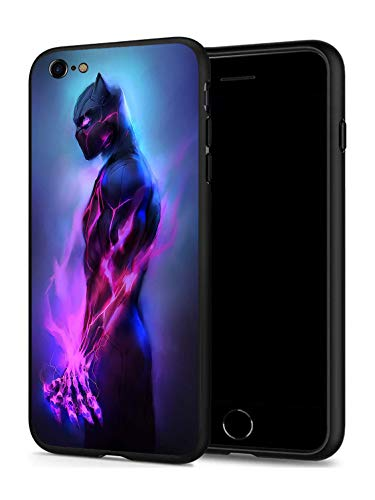 iPhone 7 8 Case, Hero Series Protection Cover Back Case for Apple iPhone 7 8 (Black-Panther)