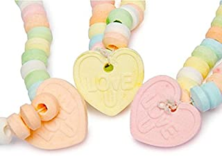 Love Beads Candy Necklace w/Charm 0.85 oz (Pack of 24)