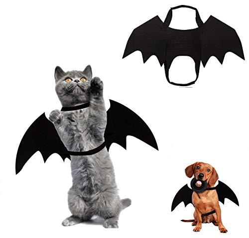 COOLON Katze Bat Wings Kostüm-Halloween Katze Kleidung, Pet Hund Bat Wings Katze Fledermaus Kostüm,Cosplay-Kostüm, für Hunde und Katzen, für Partys