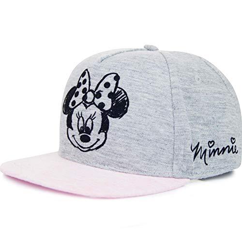 Minnie Mouse Disney Cap Kappe Snapback Für Kinder, Farbe:Grau, Größe:54