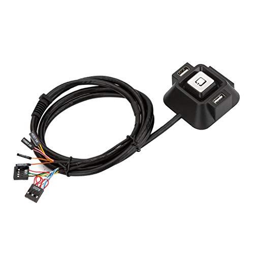 IPOTCH Interruptores de Caja de Computadora de Escritorio con Puertos USB Dobles + Botón de Reinicio de Energía