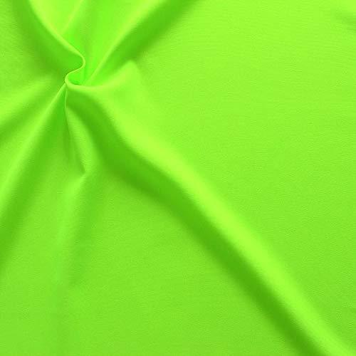 STOFFKONTOR Modestoff Dekostoff universal Stoff Meterware - zum Nähen von Bekleidung und Dekorationen jeder Art (Neon Grün)