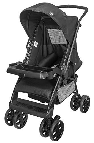 Carrinho De Bebê Linha Black Tb Até 15 Kg, Tutti Baby, Preto