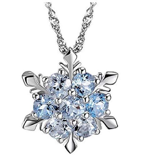 Gmgod������Collar para mujer, collar de cristal con forma de copo de nieve...