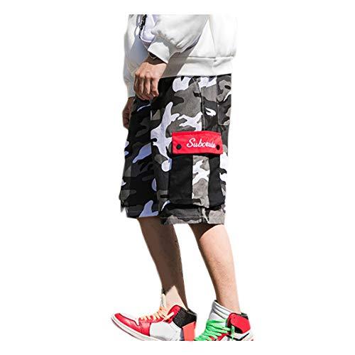 Irypulse Pantalones Cortos Camuflaje Militar Hombres, Shorts Camo Cargo Bermudas Deportivos Casuales de Verano Moda Callejera Urbana para Adolescentes, Jóvenes y Niños - Diseño Original