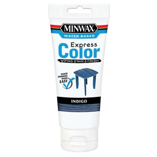 Minwax 308074444 Express Color Wiping Stain and Finish, Indigo