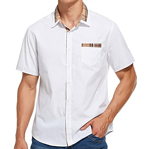 SSBZYES Sommer Herrenhemden Herren Kurzarmhemden High-End Hemden Businesshemden Herren Sommeroberteile