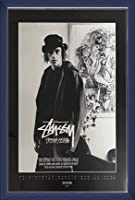 ポスター ステューシー ステューシー20th Anniversary プリント11 額装品 ウッドベーシックフレーム(ブルー)