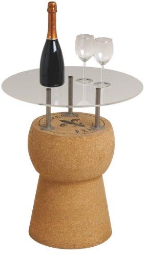 Renoir – Table tappone – Table en liège Massif avec Base d'Appui en Acrylique Transparent