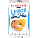 BUMBLE BEE Lunch on The Run Kit, Tuna Salad, Good Source of Protein, 8.2 Ounce (Pack of 4)
